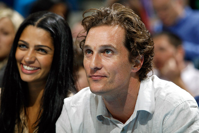 Matthew McConaughey watches as the New Orleans Hornets take on the Sacramento Kings on Dec. 15, 2010 at the New Orleans Arena.
