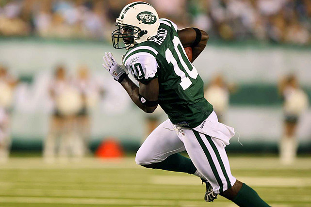 In four seasons with the Jets, Holmes only had 146 catches for 2,128 yards and 16 touchdowns. That wasn't good enough for New York, which freed up roughly $8.25 million in cap space by cutting him on March 10.