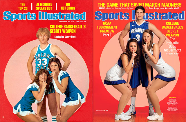 "After surpassing 3,000 points in his already illustrious collegiate career, Doug McDermott lands on the cover of Sports Illustrated this week. The image is inspired by a cover of Larry Bird, ""College Basketball's Secret Weapon,"" from Nov. 28, 1977. In this issue's cover story, ""The Hypnotic Doug McDermott,"" Luke Winn explains McDermott's calm and recounts the landmark moments from his four years at Creighton. You will learn incredible details about college basketball's best player. <bold>Rising Stars: Doug McDermott (SI VIDEO)</bold>"