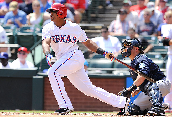 Adrian Beltre reached a career-high 199 hits with 30 home runs and 92 RBI last season.