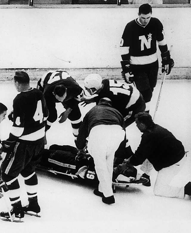 Head injuries, especially ones that leave players unconscious and medical staff fearing a broken neck or fractured skull, have plagued the NHL for decades and the league has been working to improve safety. The greatest concern is about a repeat of what happened to the Minnesota North Stars' journeyman center after he collided with two Oakland Seals and hit the back of his head on the ice during a Jan. 15, 1968 game. Masterton, 29, wasn't wearing a helmet and he appeared to be out cold before he landed. He died in a local hospital two days later. It is now believed that at the time of his fall he already had a concussion-related brain injury that was rendered fatal by the impact. The NHL's annual award for perseverance and dedication to hockey is named in his honor.