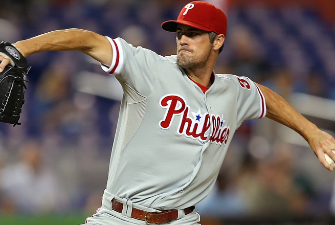 Biceps tendinitis has prevented Cole Hamels from taking the mound in spring training.