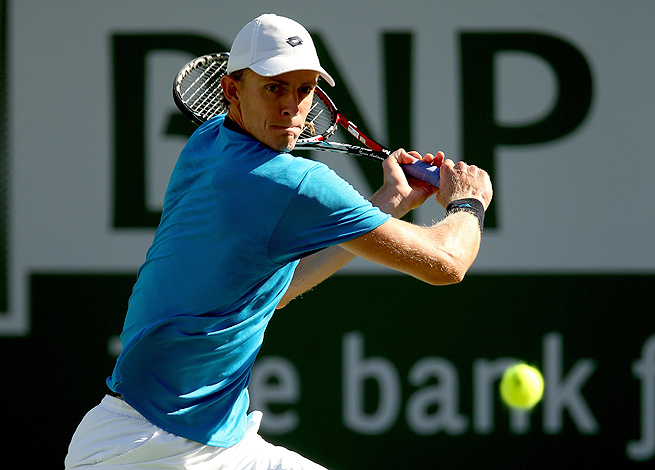 Kevin Anderson turned in a dominating third set to upset Stanislas Wawrinka at Indian Wells.