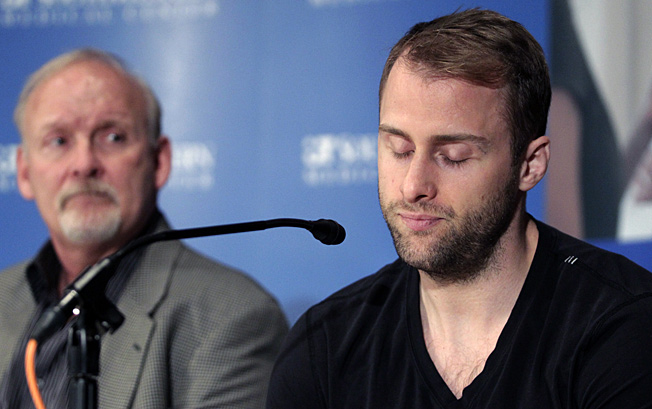 At his press conference, Rich Peverley thanked his team for its support and life-saving help.