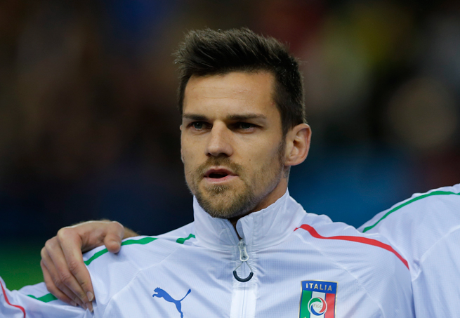 Italy fullback Christian Maggio suffered a collapsed lung after getting hit in the chest during training.