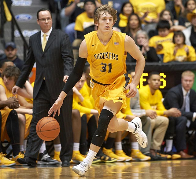 A company made T-shirts featuring Ron Baker's flowing locks. He's become an icon for a twice-surprising Shockers team.