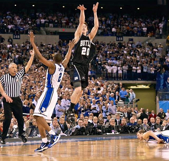 """While the real-life Hoosiers narrative was just too easy, the comparison sold the Bulldogs short. The leading men behind one of the tournament's most memorable runs included a future NBA coach (Brad Stevens) and a lottery pick (6' 9"""" swingman Gordon Hayward) who more than belonged in the championship game -- even if Hayward's last-second half-court heave didn't drop for a true Hollywood ending."""