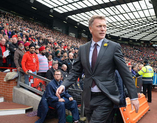 A banner calling for Manchester United manager David Moyes' departure will be flown over Old Trafford on Saturday.