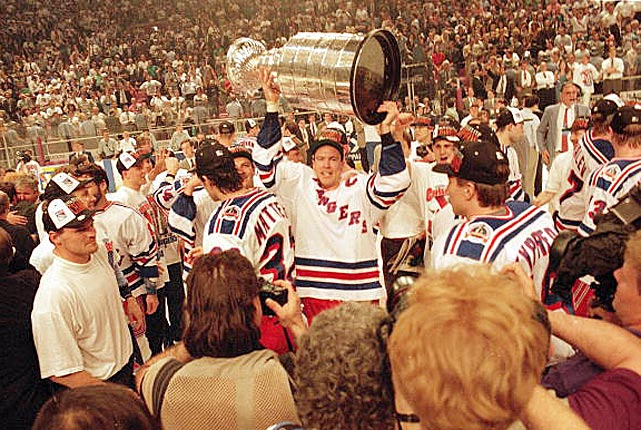 The consummate leader and veteran of five Stanley Cup champions in Edmonton was 30 and still in his prime when the Rangers acquired him in a monumental trade for Bernie Nicholls, Louie DeBrusk and Steven Rice on Oct. 4, 1991. Things went rather well during his first and now legendary six-year tenure on Broadway during which he led the Blueshirts to their first Cup in 54 years before signing with Vancouver in July 1997. His second stint failed to rekindle the old magic. Signed as a free agent in July 2000, the then-39 year old future Hall of Famer spent four more years on Broadway skating for a string of playoff DNQs before retiring in 2004 at age 43. <bold>Notable Rangers during Messier's tenures:</bold> Mike Richter, Brian Leetch, Adam Graves, Mike Gartner, Glenn Anderson, Esa Tikkanen, Jari Kurri, Wayne Gretzky, Luc Robitaille, Theo Fleury, Pavel Bure, Eric Lindros, Jaromir Jagr