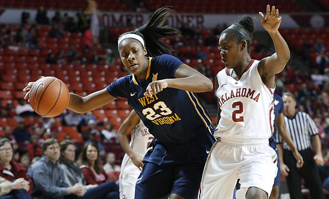 West Virginia's Bria Holmes (left) could lead the Mountaineers to a surprisingly deep tourney run.