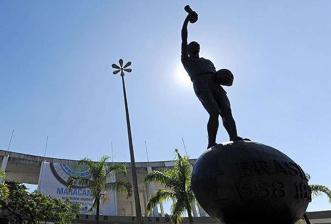 Bellini's World Cup gesture became immortalized with a statue in front of Maracana Stadium.