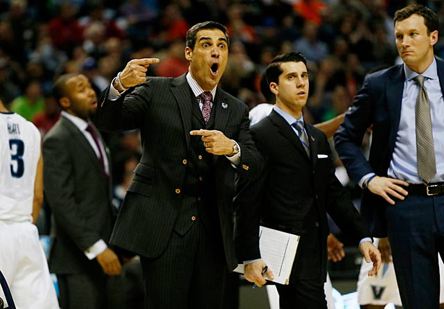 Villanova coach Jay Wright in the heat of the moment.