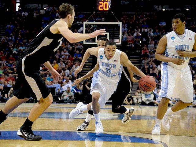 Marcus Paige led the Tar Heels with 19 points and sank a huge three-point shot with 67 seconds remaining to make it a 77-77 game.