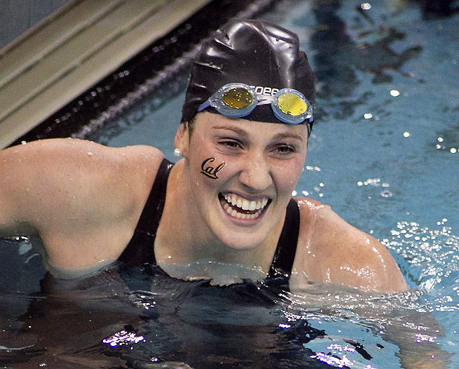 Missy Franklin compiled a huge day at the NCAA women's swimming and diving championships.