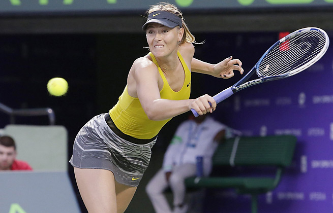 Maria Sharapova needed nine match points but got a win in the third round of the Sony Open.