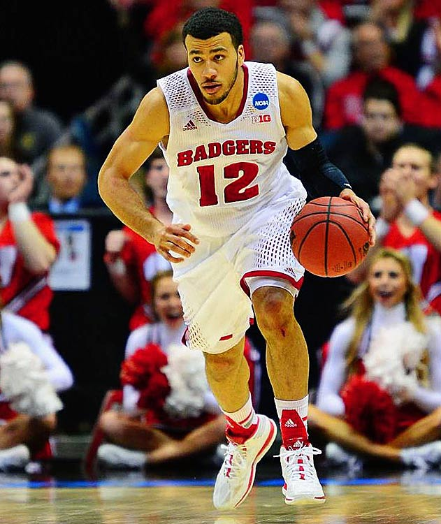 Thanks to the free-throw shooting of Traevon Jackson (pictured) down the stretch and a big three-pointer by Ben Burst with 1:07 left, Wisconsin will play Baylor or Creighton in Anaheim, Calif., on Thursday.