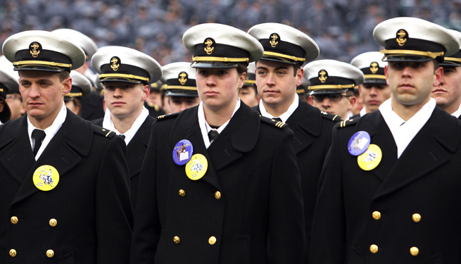 Navy football went 8-4 last season and logged a win in the Armed Forces Bowl.