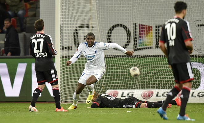 Anthony Modeste scored the winner for Hoffenheim as it defeated Bayer Leverkusen on Sunday.