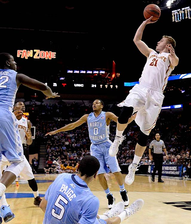 Matt Thomas scored three points in the winning effort. Iowa State gets to play UConn next, at Madison Square Garden.