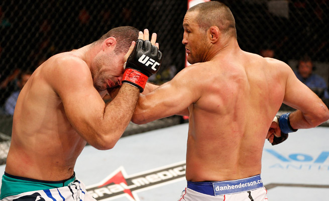Dan Henderson (right) was able to exploit Mauricio Rua's jabs and show that his tank isn't empty yet.