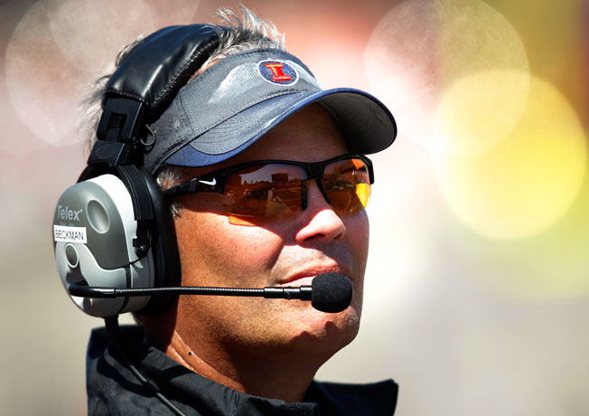 Illinois coach Tim Beckman is 6-18 (1-15 Big Ten) since taking over the team prior to the 2012 season.