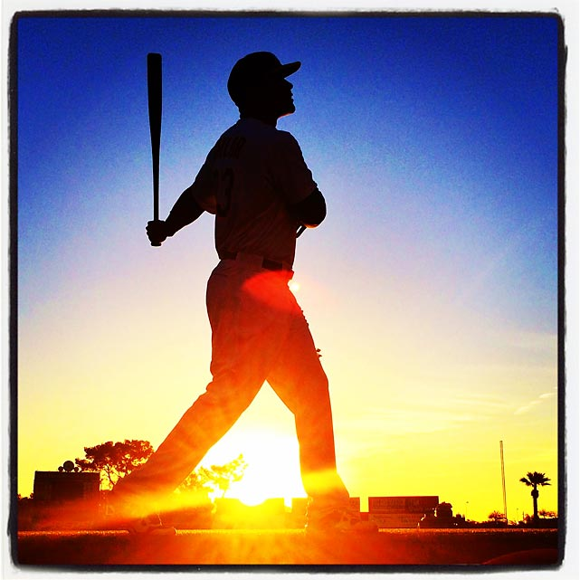 SI photographer Brad Mangin shares his favorite spring training instagrams from 2014, all taken with an iPhone 5S.