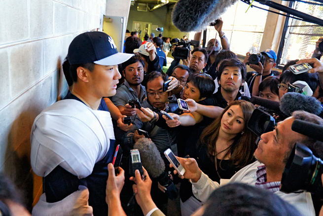 Masahiro Tanaka will face increased attention as the latest Japanese star to come to Major League Baseball.