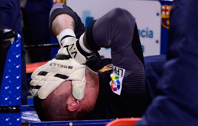 Goalkeeper Victor Valdes's torn ACL has put a major obstacle in front of Barcelona's treble-winning ambitions.