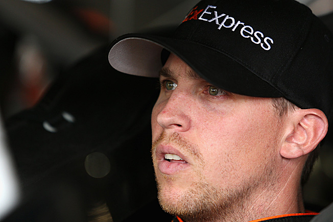 It's been a rough year or so for Denny hamlin, what with his back injury and now metal in his eye.