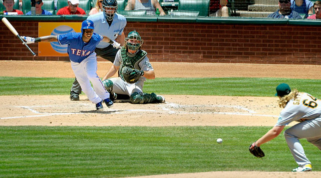 The last two years, the Rangers' season came down to the final game of the season. In 2012, they lost the division to the A's in game 162. In 2013, they beat the Angels in game 162 to force a wild-card play-in game against the Rays. This year, they'll again play the A's on the final day of the season, in Arlington rather than Oakland, and given the Rangers' early-season injury woes and their chances of a second-half surge behind the expected returns of Derek Holland, Jurickson Profar, and Geovany Soto, not to mention the A's loss of Jarrod Parker to Tommy John surgery, things could come down to the wire for both teams again. Honorable mention here goes to the 1:10 p.m. game between the Pirates and Reds in Cincinnati, and the 1:35 p.m. matchup of the Yankees and Red Sox in Boston, both of which could also have playoff implications for both teams, while the latter could be Derek Jeter's final major league game.