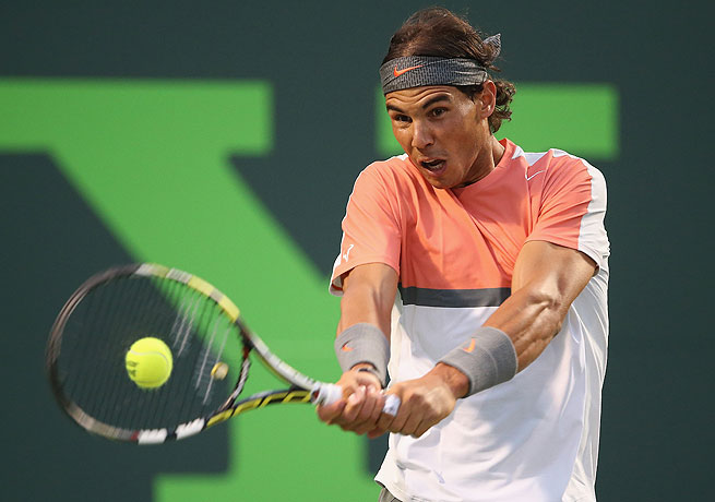 Rafael Nadal dropped the first set before coming back to defeat Milos Raonic.