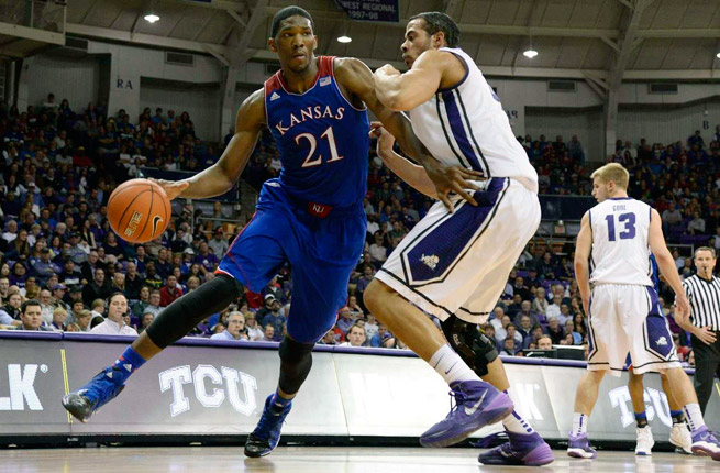 Kansas center Joel Embiid missed the last six games of his freshman season with a back injury.
