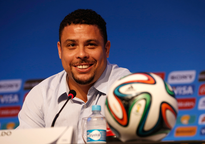 Brazil icon Ronaldo says the pressure for the host Selecao to win the World Cup this summer will be huge.