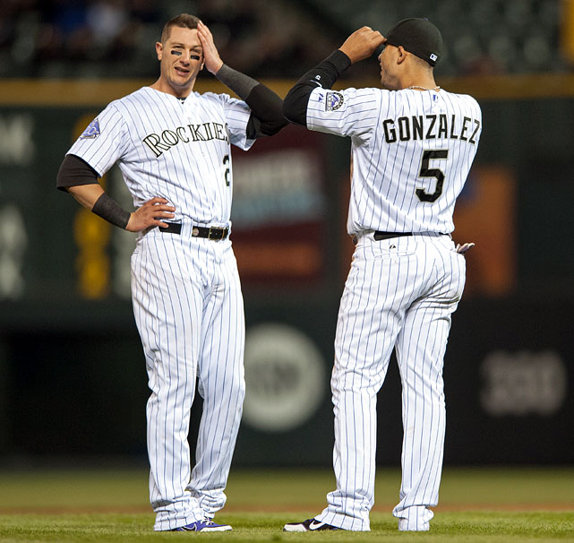 If the Rockies could ever get a full season out of both Troy Tulowitzki and Carlos Gonzalez, maybe they could sneak into contention. But health issues with their two stars have hurt them before and will likely hurt them again in 2014, and Colorado doesn't have the depth to make up for it, especially in a rotation missing ace Jhoulys Chacin for the first month and change.