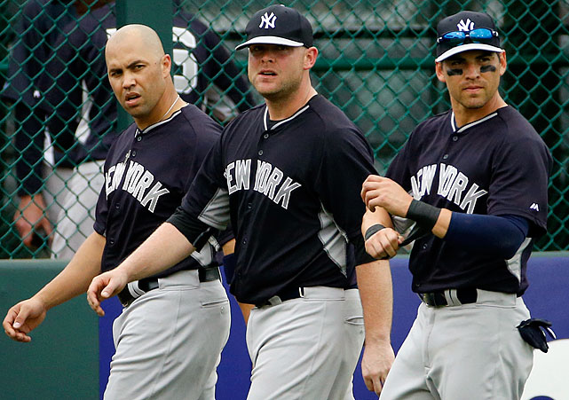 The Yankees missed the playoffs in 2013, and in response dropped nearly $500 million in free agent contracts in the offseason. Jacoby Ellsbury, Brian McCann and Masahiro Tanaka will all help, but they won't make this team any younger or more durable. Virtually every starter is on the wrong side of 30, and the team's infield may very well be the league's worst with Robinson Cano now in Seattle. Derek Jeter's final season won't see him being fitted for ring No. 6.