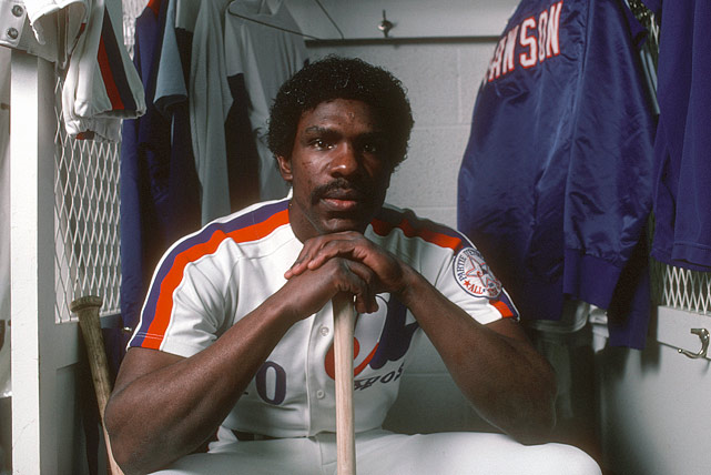 """""""The Hawk"""" won the 1976 Rookie of the Year award in his first season with the Expos and spent another 10 years there, racking up 224 homers and playing Gold Glove-defense in center field. Bad knees forced him to move to right field toward the end of his time in Montreal, but before that, he won four Gold Gloves in center; two more came in right."""