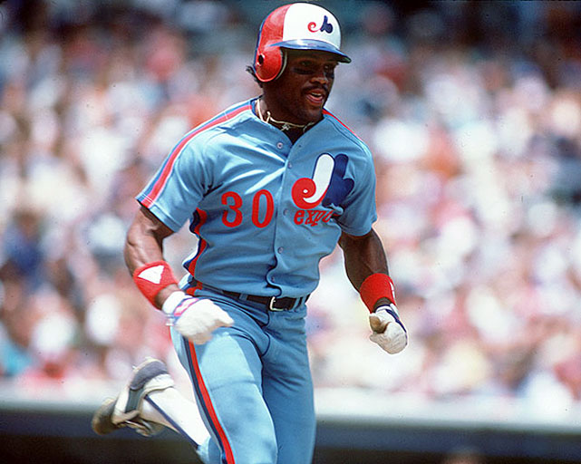 One of the longest tenured Expos, Raines was also one of the best players at any position in the 1980s. In that time, he was an All-Star seven times, won a batting title in 1986 and led the league in stolen bases four times. As an Expo, he hit .301 with a brilliant .391 on-base percentage and 634 stolen bases. Raines left the team in 1991 and joined the White Sox, but returned to Montreal for the 2001 season for 47 games, hitting .308/.443/.436 in his age-41 season.