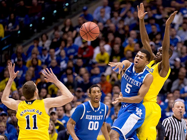 Kentucky got six assists out of Andrew Harrison (pictured).