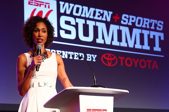 Sage Steele was named the host of NBA Countdown in October of 2013.