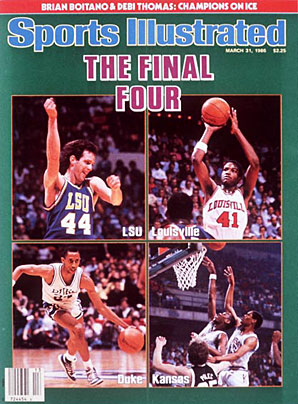The 1986 Final Four featured Cinderella LSU, perennial force Louisville, rising power Duke and the return of Kansas.