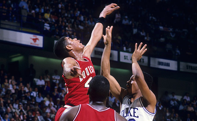 Led by freshman star Pervis Ellison, the '86 Louisville Cardinals rejected Duke's bid at history and won their second national title in seven seasons.