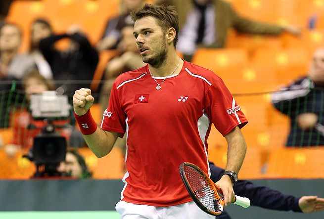 Stanislas Wawrinka and the rest of the Swiss team will take on Kazakhstan in the quarterfinal.