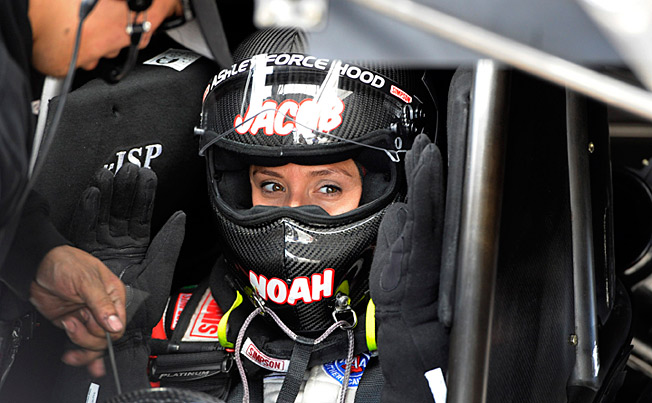 Racing has taken a back seat to motherhood for former Funny Car champ Ashley Force Hood.