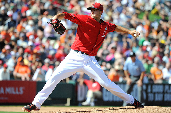 Tyler Skaggs hurled 36 strikeouts during the 38 2/3 innings he pitched for the Diamondbacks last year.