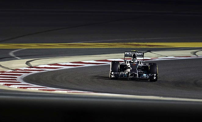 Nico Rosberg helped Mercedes capture the entire front row ahead of the Bahrain Grand Prix.