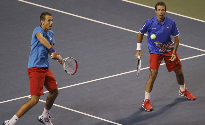 Lukas Rosol, left, and Radek Stepanek have the Czech Republic primed for a third straight Davis Cup.