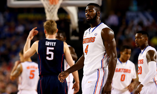 Patric Young was one of the four Florida senior starters whose career ended against UConn.