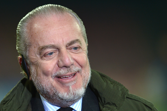 Napoli president Aurelio De Laurentiis apologized after attacking a fan following his club's 1-0 loss to Parma Sunday.
