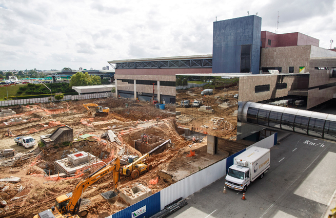 Construction remains ongoing at the Afonso Pena International Airport in Curitiba, Brazil, with experts saying it's too late for all airports under renovation to be ready in time for the World Cup.