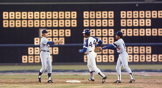 Even his opponents congratulated him when Hank Aaron hit his 715th home run.
